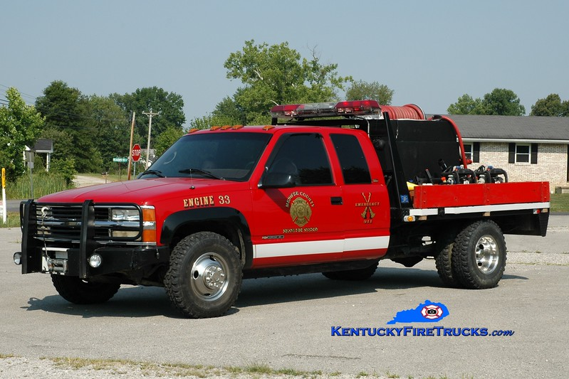 <center> Menifee County  Brush 33 <br> 1996 Chevy 3500 4x4/Darley 100/250  <br> Greg Stapleton photo <br> </center>