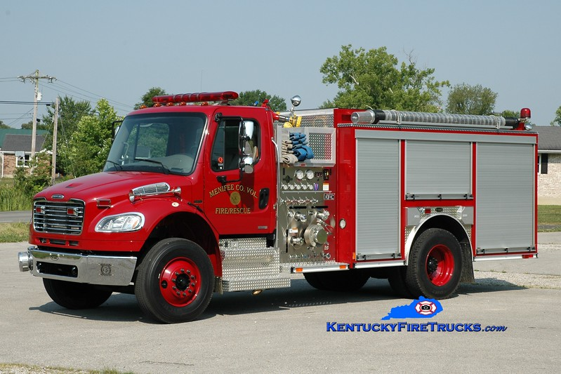 <center> Menifee County  Engine 31 <br> 2007 Freightliner M2-106/E-One 1250/1000 <br> Greg Stapleton photo <br> </center>