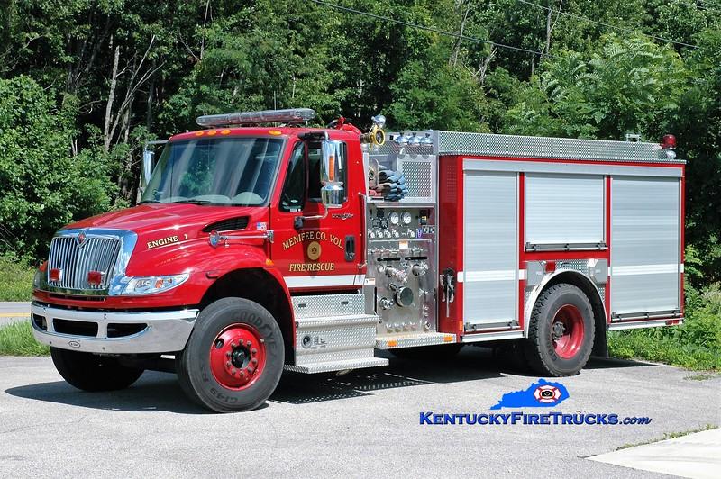 Menifee County  Engine 1<br /> 2009 International 4400/E-One 1250/1000<br /> Greg Stapleton photo