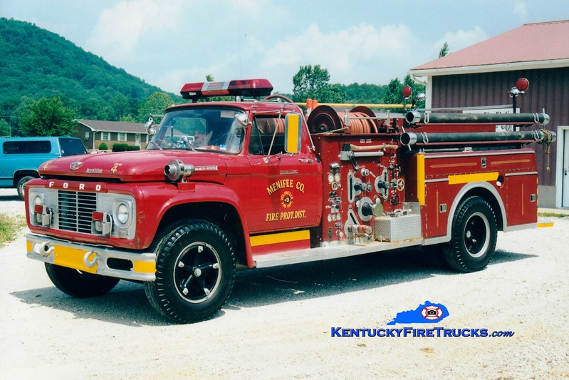 <center> RETIRED <br> Menifee County  Engine 4 <br> 1979 Ford/Darley 750/500 <br> Greg Stapleton photo <br> </center>