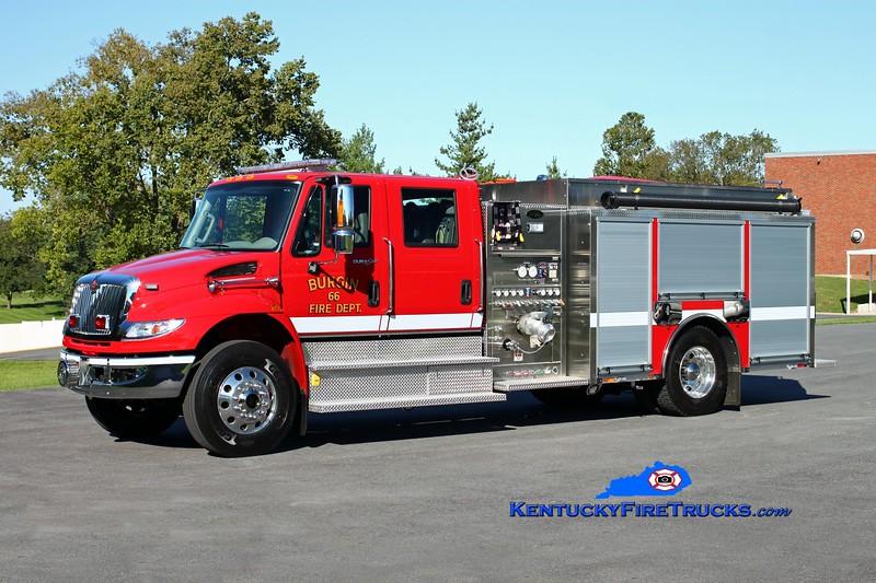 <center> Burgin  Engine 66 <br> 2013 International 4400/Toyne 1500/1000/30 <br> Kent Parrish photo </center>