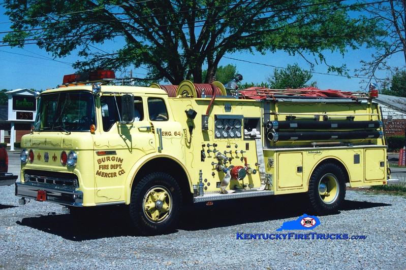 <center> RETIRED <br> Burgin  Engine 64 <br> 1977 Ford C/Jaco 1000/750 <br> Greg Stapleton photo </center>
