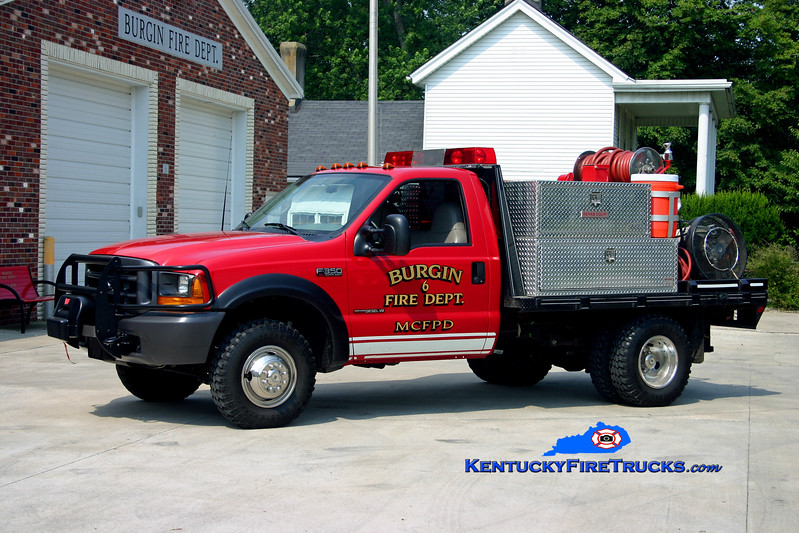 <center> Burgin  Brush 6 <br> 2000 Ford F-350 4x4/Local/MCFD 250/250 <br> Kent Parrish photo </center>