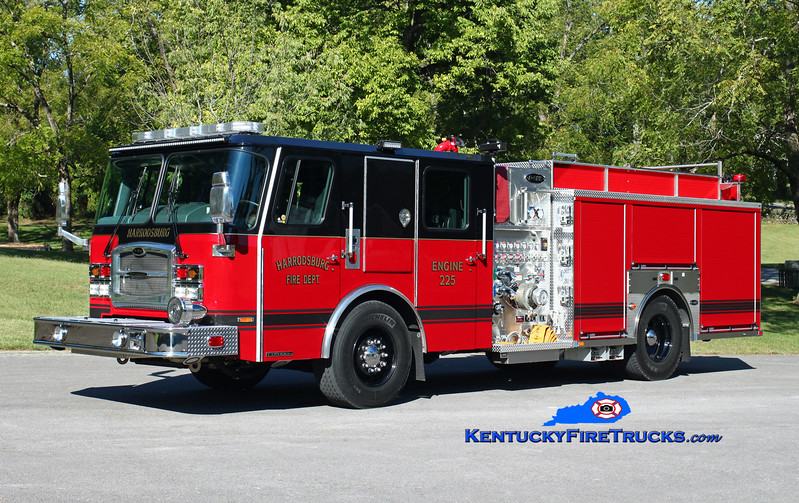 Harrodsburg  Engine 225<br /> 2016 E-One Typhoon 1500/780<br /> Kent Parrish photo
