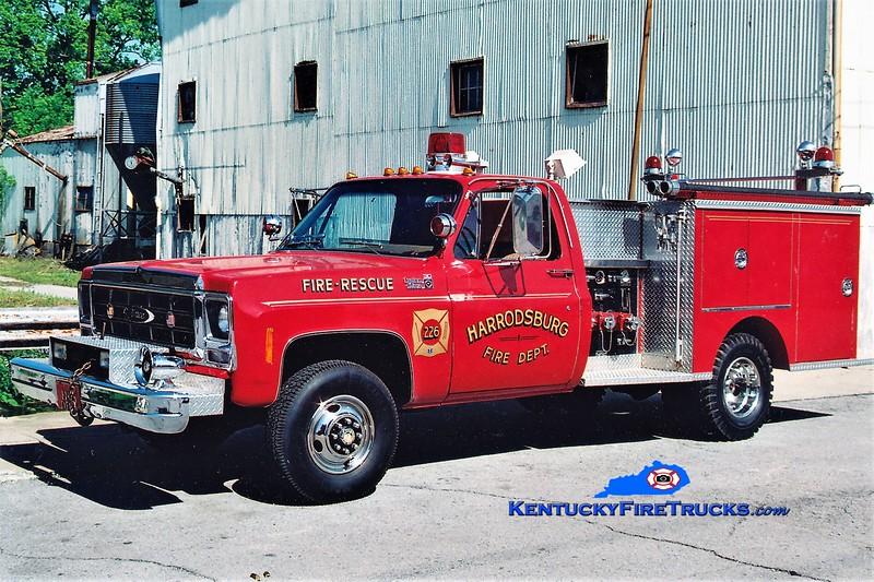 RETIRED<br /> Harrodsburg  Engine 226<br /> x-Burgin, KY<br /> 1979 Chevy K30 4x4/Pierce 250/250<br /> Greg Stapleton photo