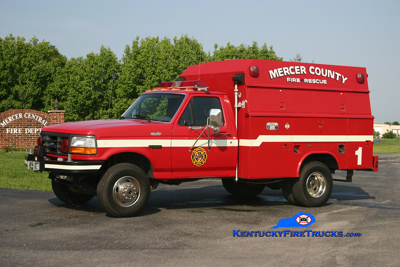 <center> Mercer County Technical Rescue 1 <br> 1991 Ford F-350 4x4/Reading <br> Kent Parrish photo </center>