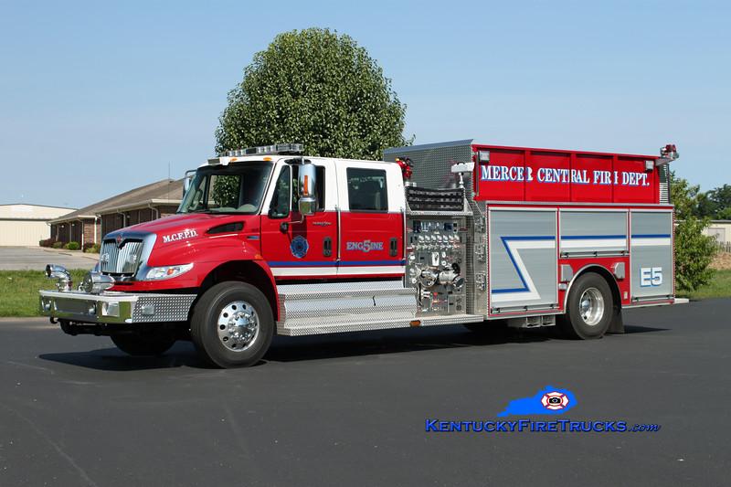 <center> Mercer Central  Engine 5 <br> 2011 International 4400/Bluegrass 1250/1000/30 <br> Kent Parrish photo </center>
