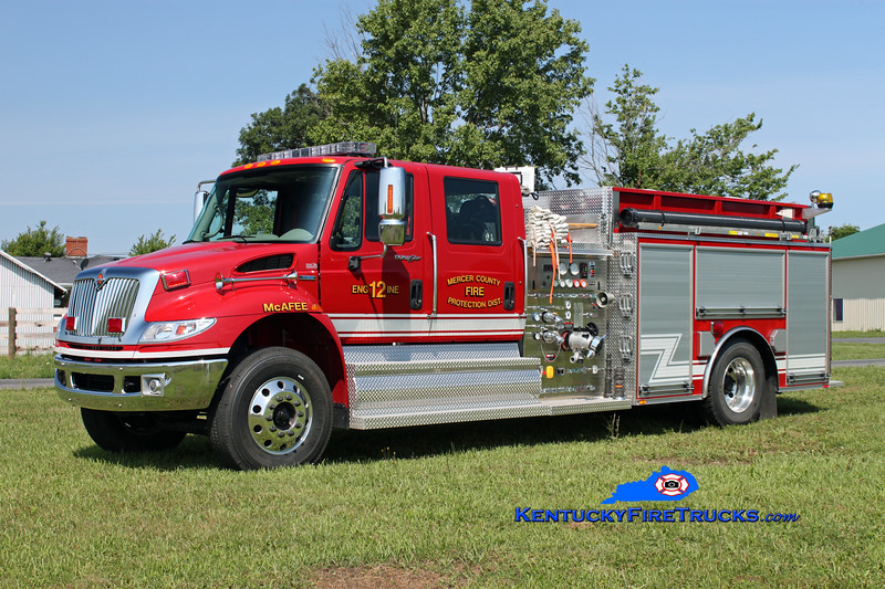 <center> McAfee  Engine 12 <br> 2008 International 4400/Bluegrass 1250/1000/30 <br> Kent Parrish photo </center>