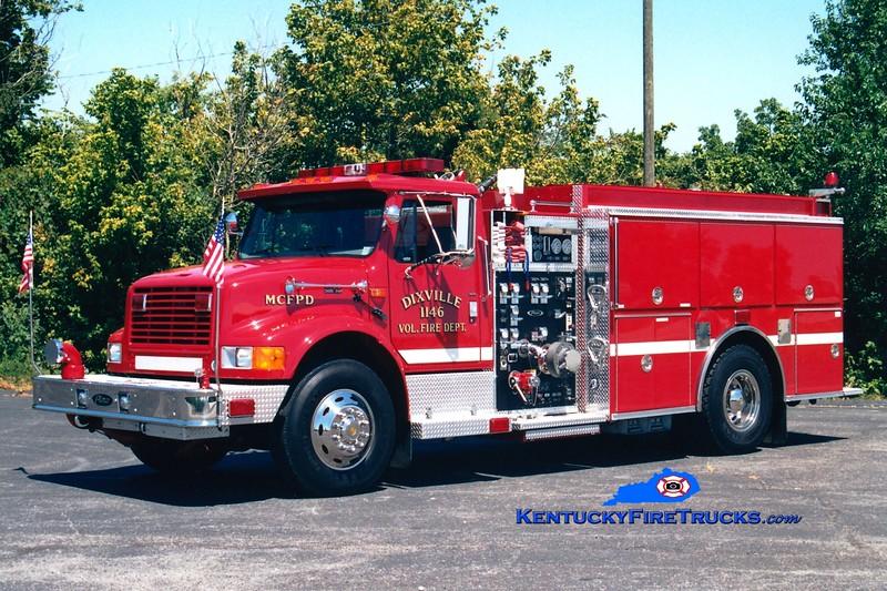 <center> Dixville  Engine 11 <br> 1997 International 4900/Pierce  1250/1000 <br> Greg Stapleton photo </center>