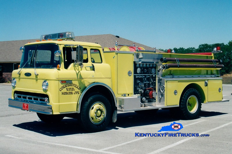<center> RETIRED <br> Cornishville  Engine 315 <br> 1985 Ford C/Pierce 1000/750 <br> Greg Stapleton photo </center>