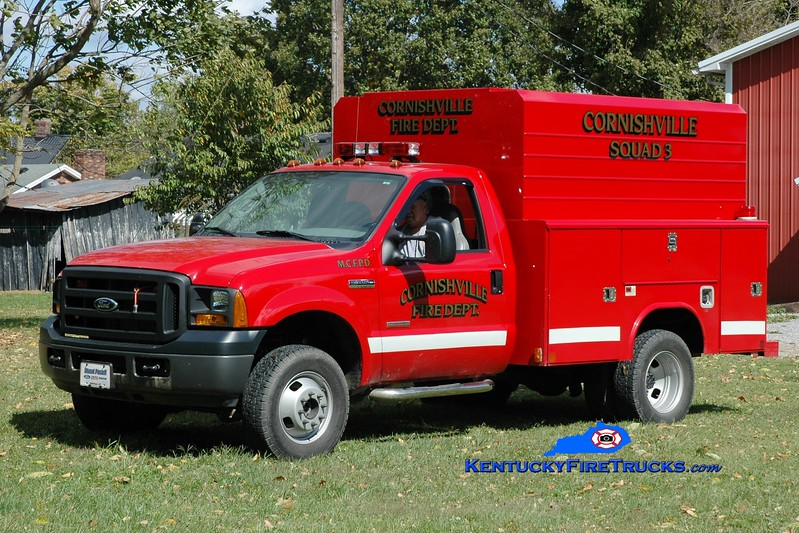 <center> Cornishville  Squad 3 <br> 2005 Ford F-350 4x4/Reading <br> Greg Stapleton photo </center>