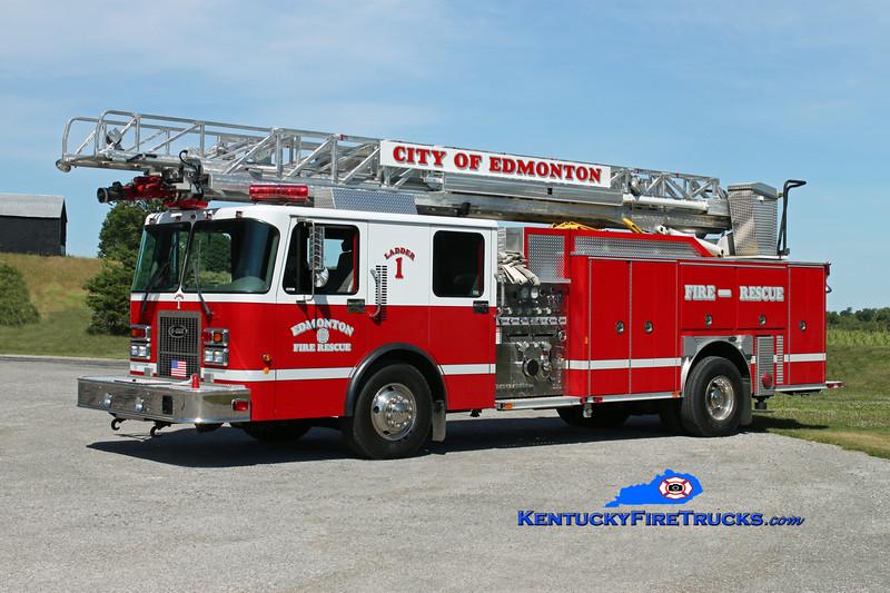 <center> Edmonton  Ladder 1 <br> 2000 Spartan Advantage/E-One 1250/500/75'  <br> Kent Parrish photo </center>