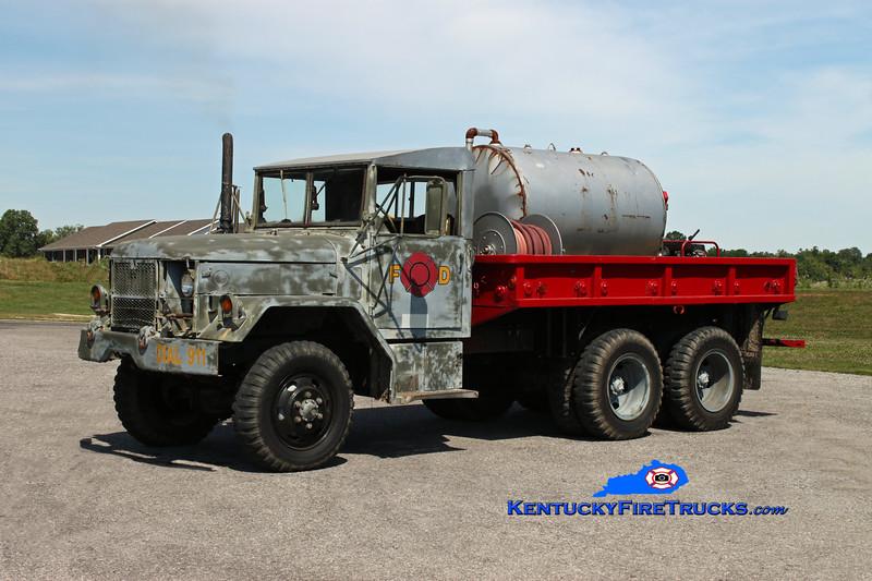 <center> RETIRED <br> Edmonton-Metcalfe County  Tanker 2 <br> 1972 AM General M35 250/1500 <br> Kent Parrish photo </center>