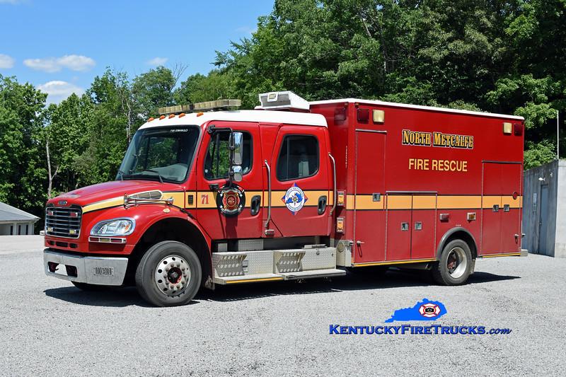 North Metcalfe Rescue 71<br /> x-Jacksonville, FL <br /> 2004 Freightliner M2-106/American LaFrance Medic Master<br /> Kent Parrish photo