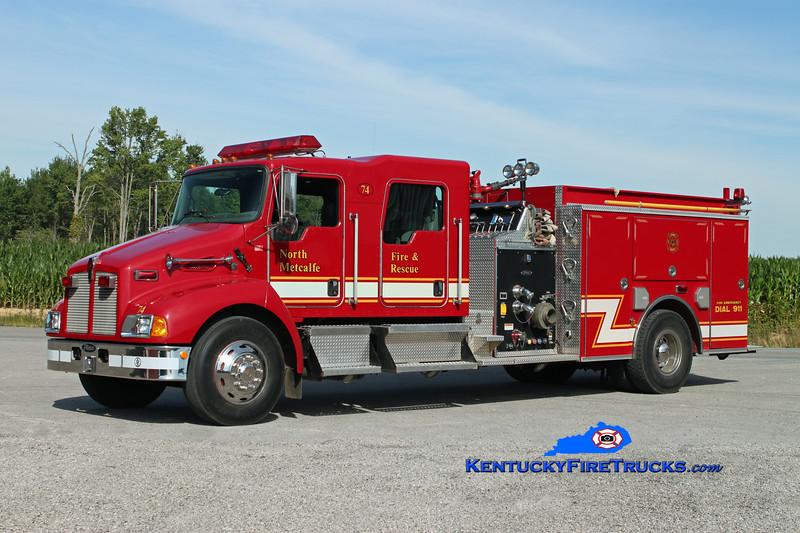 <center> North Metcalfe   Engine 74 <br> 2003 Kenworth T-300/Pierce 1250/1000 <br> Kent Parrish photo </center>