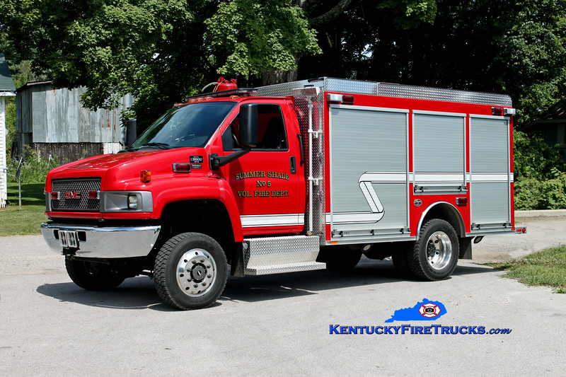 <center> Summer Shade  Rescue 95 <br> 2008 GMC C5500 4x4/Wynn/CET CAFS/200/10 <br> Kent Parrish photo </center>