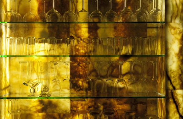 Glass in amber<br /> <br /> P218