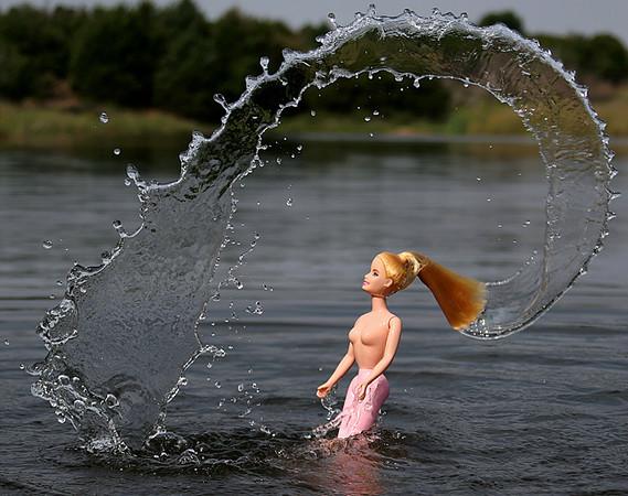 Barbie Throws Some Hair