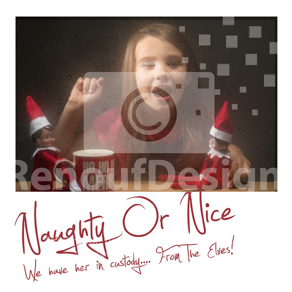 21 Naughty or Nice - Santas Elves in action, trapped behing glass!