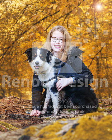Beck and her dog