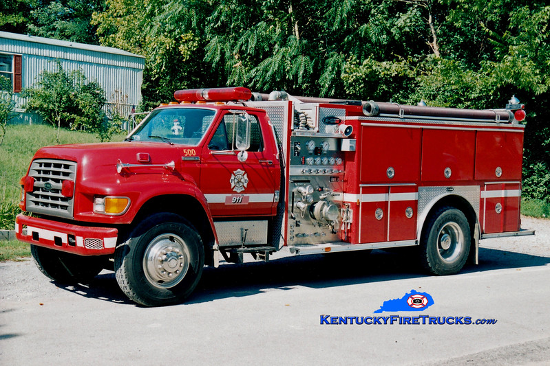 <center> Monroe County  Engine 500 <br> 1995 Ford F-800/E-One 1250/1000 <br> Kent Parrish photo </center>