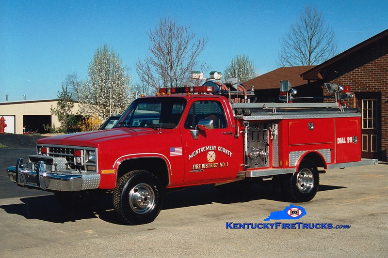 <center> RETIRED <br> Montgomery County  Engine 6 <br> 1989 Chevy K30 4x4/1979 E-One 450/260 <br> Greg Stapleton photo </center>