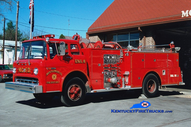 <center> Montgomery County  Engine 24 <br> x-Mt Sterling, KY <br> 1973 Ford C-900/Sutphen 1000/500 <br> Greg Stapleton photo </center>