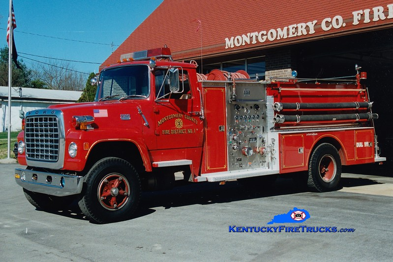 <center> RETIRED <br> Montgomery County  Engine 3 <br> 1977 Ford L-900/Jaco 1000/1300 <br> Greg Stapleton photo </center>