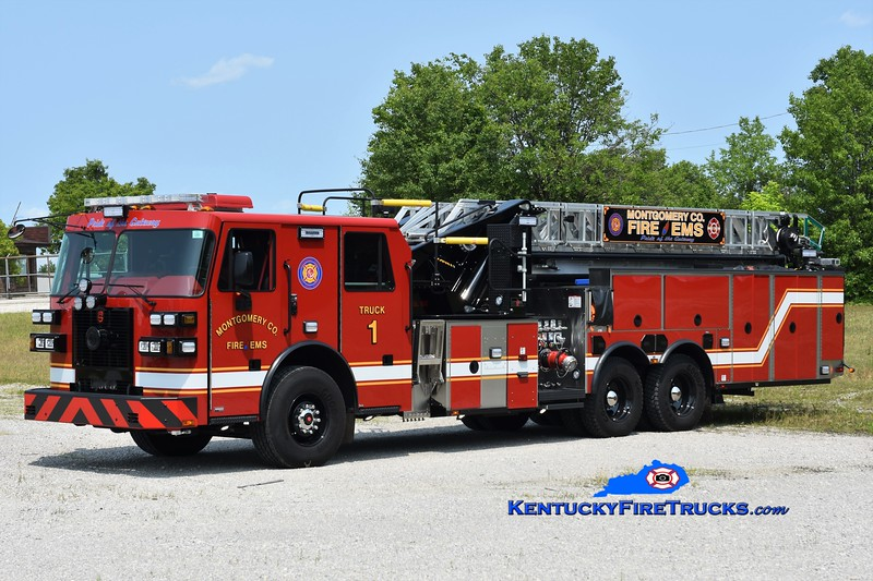 Montgomery County  Truck 1<br /> 2019 Sutphen 2000/300/100'<br /> Greg Stapleton photo