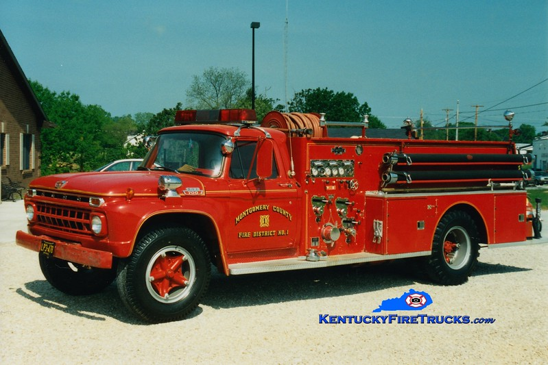<center> RETIRED <br> Montgomery County  Engine 27 <br> x-Engine 1 <br> 1966 Ford F-700/Boyer 500/500 <br> Greg Stapleton photo </center>