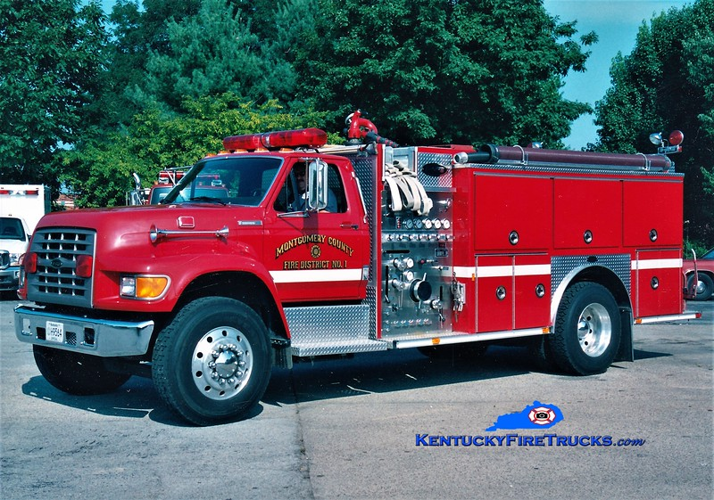 Montgomery County  Engine 7<br /> 1995 Ford F-800/E-One 1250/1000<br /> Greg Stapleton photo