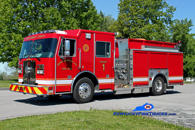 <center> Montgomery County  Engine 1 <br> 2010 Sutphen Guardian 1250/1000 <br> Kent Parrish photo </center>
