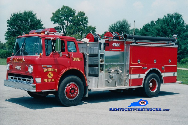 <center> RETIRED <br> Montgomery County  Engine 5 <br> x-Engine 17 <br> 1984 Ford C-8000/FMC 1250/1000 <br> Greg Stapleton photo </center>