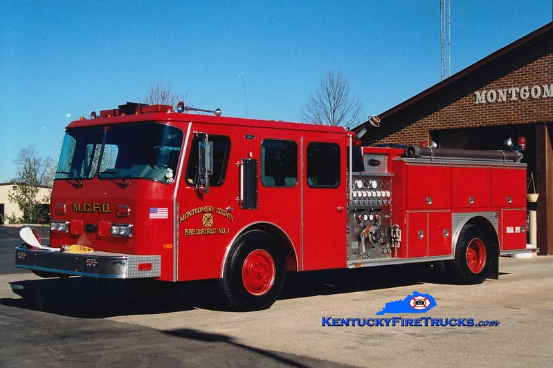 <center> RETIRED <br> Montgomery County  Engine 12 <br> 1991 E-One Cyclone 1500/1000 <br> Greg Stapleton photo </center>