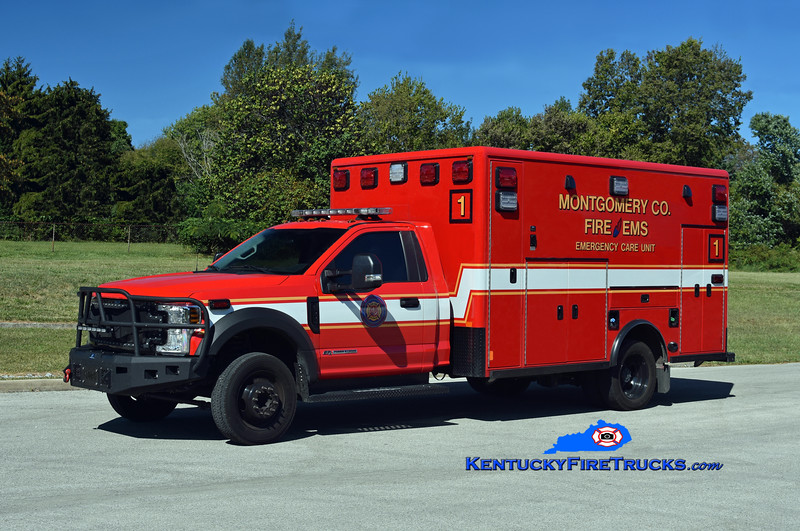 Montgomery County Emergency Care 1<br /> 2018 Ford F-550 4x4/Excellance (2004 Horton)<br /> Kent Parrish photo