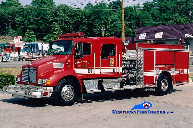<center> Montgomery County  Engine 6 <br> x-Engines 1 and 2 <br> 2005 Kenworth T-300/Pierce 1250/1000 <br> Greg Stapleton photo </center>