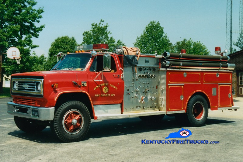 <center> Montgomery County  Engine 4 <br> x-Engine 5 <br> 1981 Chevy C70/Jaco 1000/750 <br> Greg Stapleton photo </center>