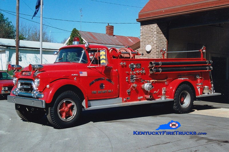 <center> Montgomery County  Engine 26 <br> x-Mt Sterling, KY <br> 1958 GMC 630/American 750/300  <br> Greg Stapleton photo </center>