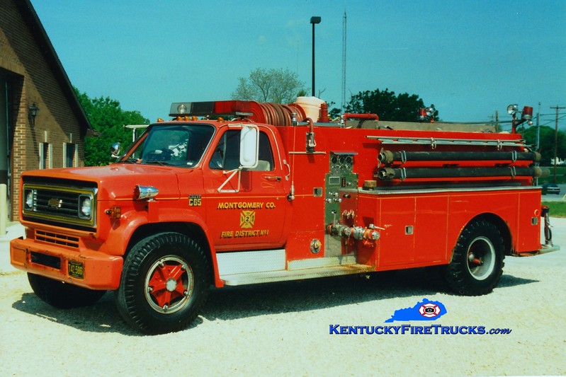 <center> RETIRED <br> Montgomery County  Engine 2 <br> x-Engine 1 <br> 1973 Chevy C65/Howe 500/1000 <br> Greg Stapleton photo </center>
