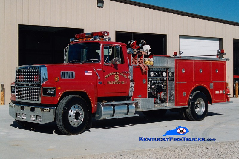 <center> RETIRED <br> Montgomery County  Engine 6 <br> x-Engine 7 <br> 1988 Ford LTL-9000/Pierce 1000/1000 <br> Greg Stapleton photo </center>