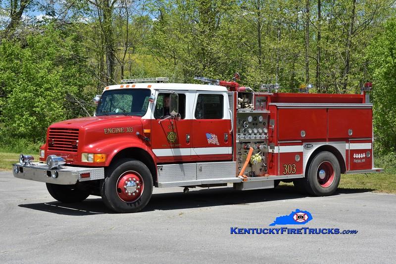 519 VFD Engine 303<br /> x-Darien-Woodbridge, IL <br /> 1990 International 4900/E-One 1250/750<br /> Greg Stapleton photo