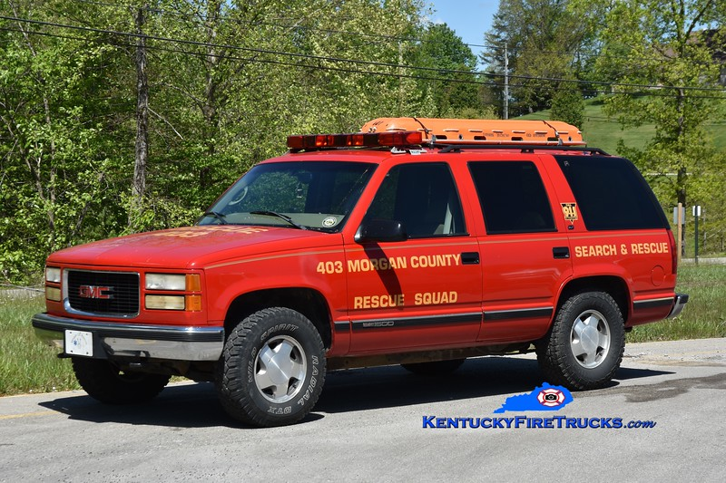 Morgan County Rescue Squad Rescue 403 <br /> 1997 Chevy Suburban 4x4<br /> Greg Stapleton photo