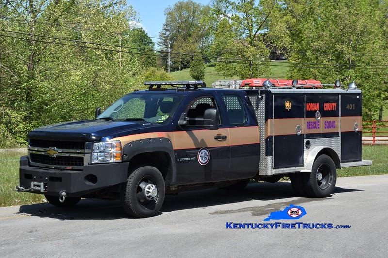 Morgan County Rescue Squad Rescue 401<br /> 2009 Chevy 3500 4x4/E-One (Older Body) <br /> Greg Stapleton photo