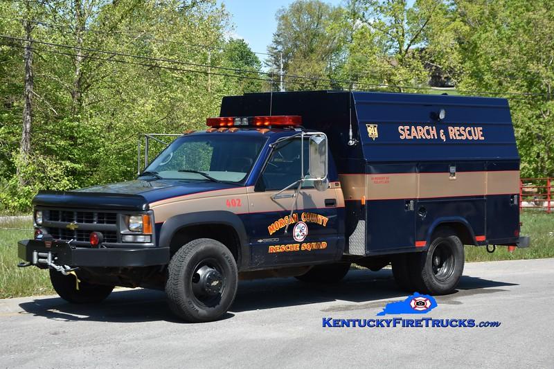Morgan County Rescue Squad Rescue 402 <br /> 1997 Chevy 1500 4x4/Stahl<br /> Greg Stapleton photo