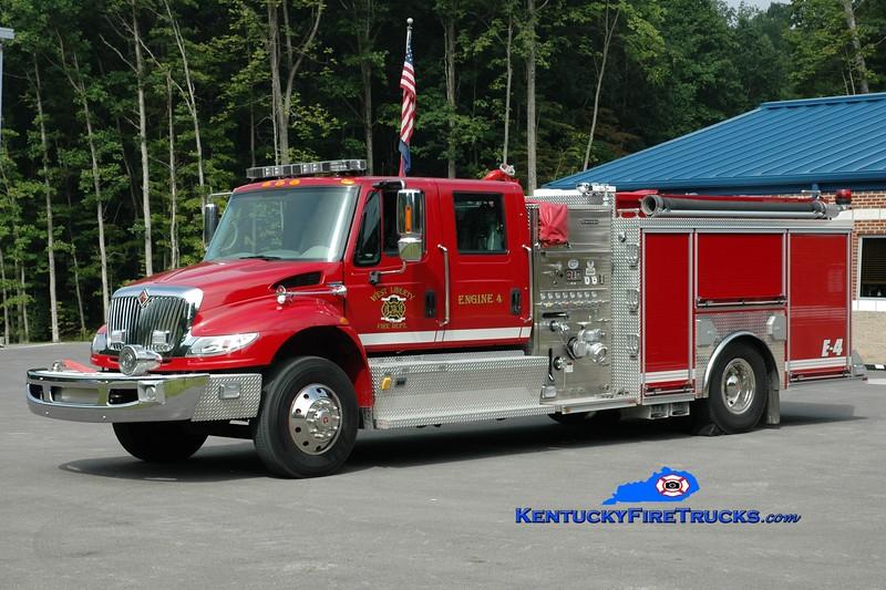 <center> West Liberty  Engine 4 <br> 2007 International 4400/Crimson 1500/1000 <br> Greg Stapleton photo </center>