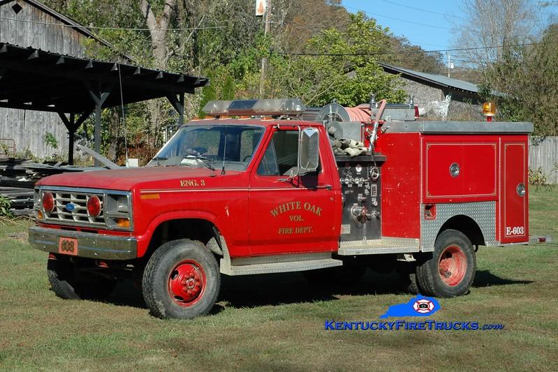 White Oak  Engine 603<br /> 1986 Ford F-350 4x4/Sutphen 300/250<br /> Greg Stapleton photo