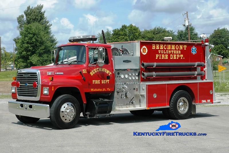 <center> Beechmont  Engine 51  <br> 1995 Ford L/Quality 1000/1250 <br> Greg Stapleton photo </center>