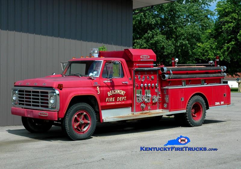 <center> RETIRED <br> Beechmont  Engine 53 <br> 1971 Ford F/Bean 750/750  <br> Greg Stapleton photo </center>