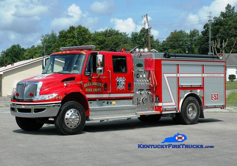 <center> Beechmont  Engine 53  <br> 2009 International 4400/E-One 1250/1000 <br> Greg Stapleton photo </center>
