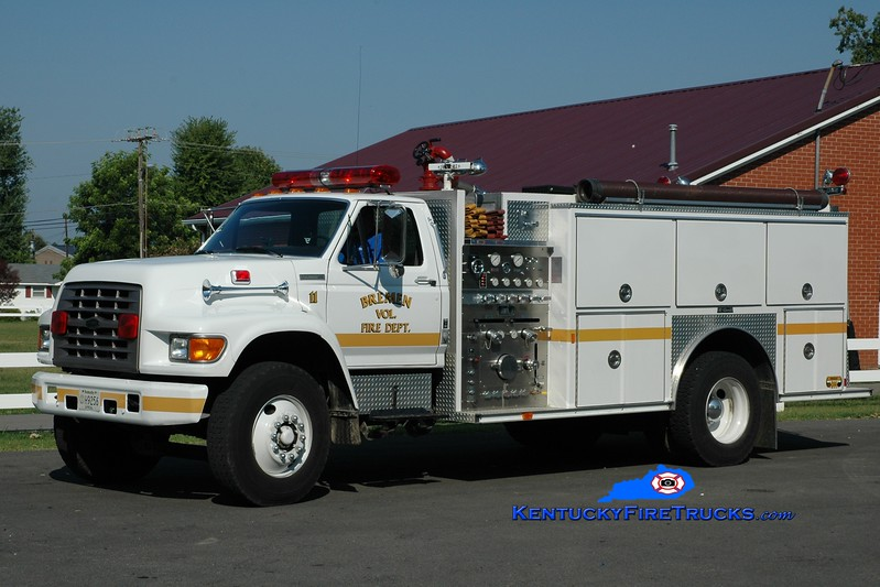 <center> Bremen  Engine 11 <br> 1995 Ford F-800/E-One 1250/1000 <br> Greg Stapleton photo </center>